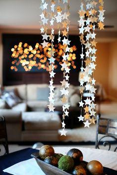 I Love You to the Stars - perfect idea for backyard wedding decor.