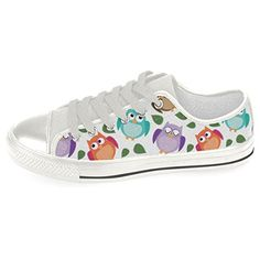 InterestPrint Owl Canvas Womens Authentic Fashion Shoes Sneaker7 BM US ** Click image for more details.
