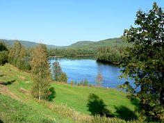 View of part of the river Klarälven, Sweden