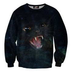 Hissing Cat Sweater Unisex, 42€,  by Mr. Gugu & Miss Go !!