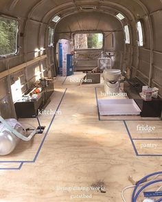 It's 192 sq ft. Everything is close together. Airstream Living, Airstream Campers, Airstream Remodel, Airstream Interior, Vintage Airstream, Camper Renovation, Trailer Remodel, Remodeled Campers, Vintage Campers