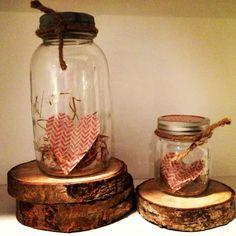 Heart in mason jars
