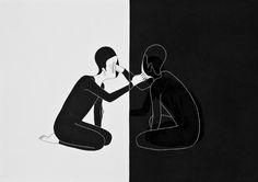 """Moonassi  ou l'art du Noir et du Blanc - oeuvre : """"You're sur real"""""""