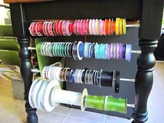 Great way to use all avail space in a craft room❣ Sew Many Ways...