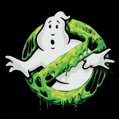Ghostbusters logo slimed