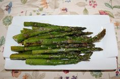 Oven Roasted Asparagus, Yum!