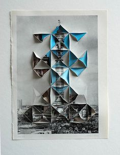 ::origami meets collage by abigail reynolds. Reference to paper cutouts Photomontage, Inspiration Art, Origami, Grafik Design, Art Plastique, Oeuvre D'art, Art Education, Collage Art, Art Lessons