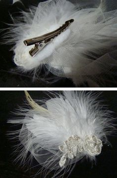 Crafty feather facinator for hair... I could so make this; along with matching ones for the bridesmaids!