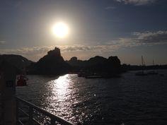 Tramonto dal traghetto - Sicilia - Italia