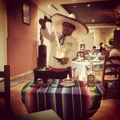 This is how tableside flaming fajitas are done at @valentinmaya!!!!