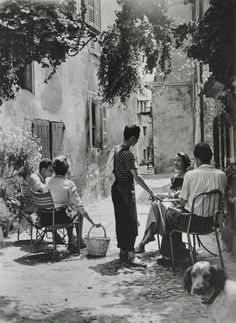 Unknown Photographer. In a French village 1950s  Undr