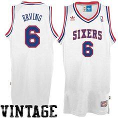 f2746b2d5 adidas Julius Erving Philadelphia 76ers Soul Swingman Throwback Jersey -  White Air Jordan