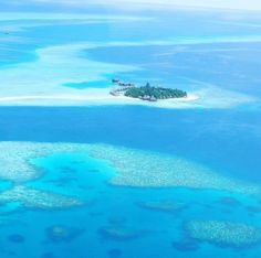 View of the Maldives from the seaplane