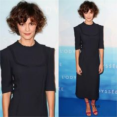 Tautou in Prada at the L`Odyssee Paris Premiere Audrey Tautou wavy bobAudrey Tautou wavy bob Wavy Bob Long, Short Curly Hair, Short Hair Cuts, Curly Hair Styles, Audrey Tautou, Haircut Styles For Women, Short Haircut Styles, Cute Short Haircuts, Stacked Bob Hairstyles