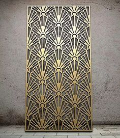 Miles and Lincoln - the UK& leading designer of laser cut screens for decorative interior panels, external architectural cladding, balustrades and ceilings Corte Laser Metal, Laser Cut Metal, 3d Laser, Design Art Nouveau, Motif Art Deco, Art Deco Pattern, Art Deco Print, Art Patterns, Design Patterns