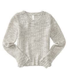 Kids' Solid Textured Sweater -