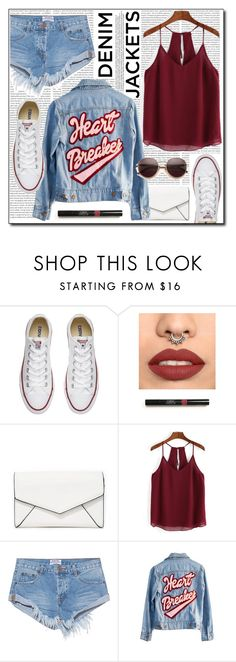 """""""Wardrobe Staples - Denim Jackets (#107)"""" by laa-douleur-exquise ❤ liked on Polyvore featuring Oris, Converse, LULUS, One Teaspoon, High Heels Suicide, Wildfox, denimjackets and WardrobeStaples"""