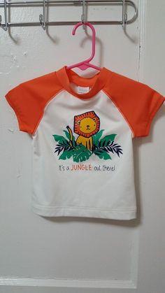 a147eb4c1 Toddler Boys Gymboree Rash Guard Bathing Suit Swimwear Size 12-18 Months  NWT #fashion