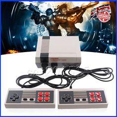 Mini Retro TV Game Console NES 8Bit Classic 500 Built-in Games+2 Controllers -UK