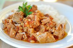Mel's Kitchen Cafe | Country-Style Pork and White Beans {Slow Cooker}