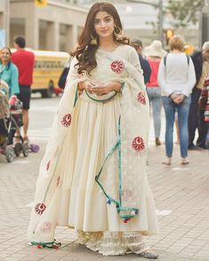 Excited to share this item from my shop: VeroniQ Trends-Pakistani Style Full Stitched White Anarkali dress with Dupatta in Red Block print,Anarkali Suit,Salwar Suit,Wedding Dress-NJ Indian Look, Indian Ethnic Wear, Indian Style, Pakistani Dress Design, Pakistani Outfits, Indian Wedding Outfits, Indian Outfits, Indian Clothes, Wedding Dress