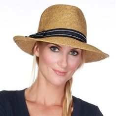 Rich Pitch - Brown/Navy Fedora Sun Hat| Physician Endorsed 50+ UPF | SolEscapes.com