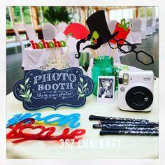 Photo Booth   #chalkart #blackboard #Wedding #bridal #3szchalkartWedding…