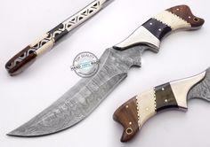 "11.00"" Custom Made Beautiful Damascus steel Hunting Knife (1045)"