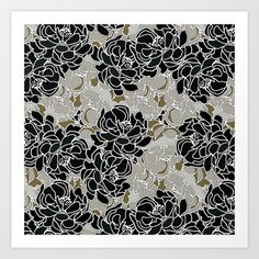 Patina Blossoms Art Print by Joan McLemore - $18.00