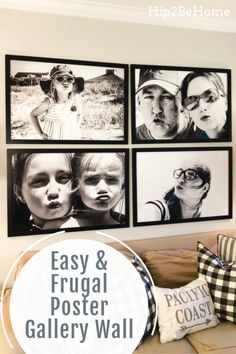 Create Your Own Oversized Photo Print Gallery Wall on a Tight Budget Picture Wall Living Room, Family Wall Decor, Picture Walls, Photo Wall Decor, Picture Frames, Family Pictures On Wall, Large Family Photos, Oversized Wall Decor, Large Photo Prints