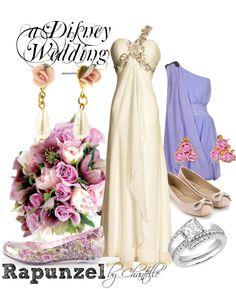 """A Disney Wedding: Rapunzel"" by disneybychantelle Rapunzel Wedding Dress, Tangled Wedding, Disney Inspired Wedding, Disney Wedding Dresses, Disney Inspired Fashion, Blue Wedding Dresses, Disney Dresses, Disney Fashion, Disney Weddings"