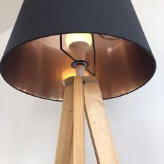 Free standing wooden floor lamp with Habitat lamp shade | Kingston, London | Gumtree