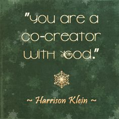 """You are a co-creator with God."" #HarrisonKlein #TheMastersGathering"