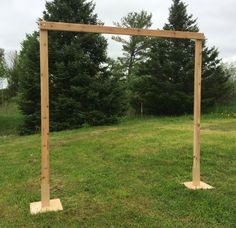 3 Piece Cedar Wedding Arch by AnniesCreek on Etsy
