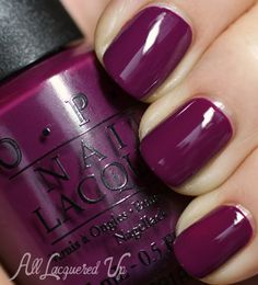 OPI Anti-Bleak is a berry creme. OPI describes it as purple but it just doesn't fit in that category for me. I've been on such a glitz kick lately that I forgot how gorgeous a rich creme finish can be. And this one has great depth and luscious shine.