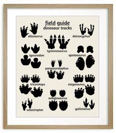 Dinosaur Footprints, nursery art