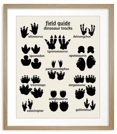 Dinosaur Footprints, nursery art