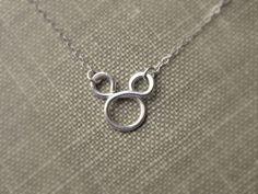 Mickey Mouse Necklace Sterling Silver Disney Fan Flower girl gift Disney Weddings. $22.00, via Etsy.