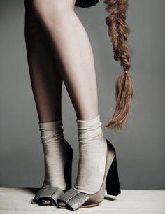 Ankle Socks, Louis Vuitton pumps & a messy fishtail braid Zapatos Louis Vuitton, Louis Vuitton Pumps, Sock Shoes, Shoe Boots, Shoes Sandals, Shoe Shoe, Ballet Shoes, Dance Shoes, Tong Havaianas