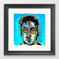 Work copyright  Andrew Oyl Miller oylmiller@gmail.com Society6 Shop - Instagram - Facebook 'John' art print by @oyldraws on @society6. Click link in bio for details.  #society6 #shop #oylmiller #tshirt #design #instaartist #art #illustration #drawing #imagine #johnlennon #beatles #music #pop #portrait