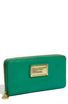 Marc Jacobs vertical zip wallet
