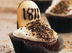 Enjoy this tombstone shaped cupcake made with Betty Crocker® Rich