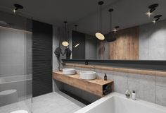 Similar tones from this bathroom