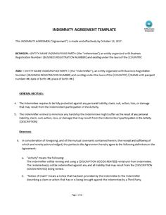 Hold Harmless Agreement Sample Wording  Making Hold Harmless