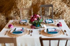 Simple Jewel tone tablescape from The Sweetest Occasion