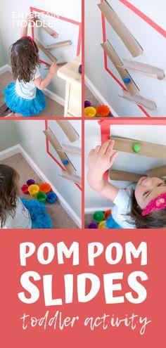Pom Pom Slides for Toddlers