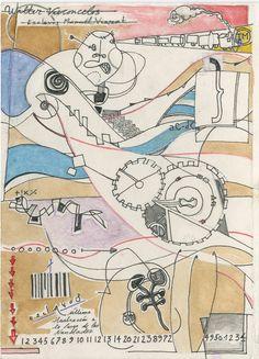 A la manera de Walter  Vasconcelos. Técnica mixta. Daniel Oppenheimer. 1º Ciclo Diseño Gráfico. 2013