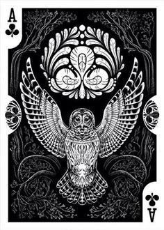 Owl Ace of Clubs