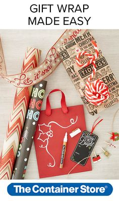 Ho! Ho! Ho! Use a chalk marker to personalize wrapping paper, gift bags and gift tags.