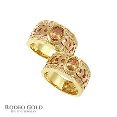 Gold rings with gemstones TCR40541